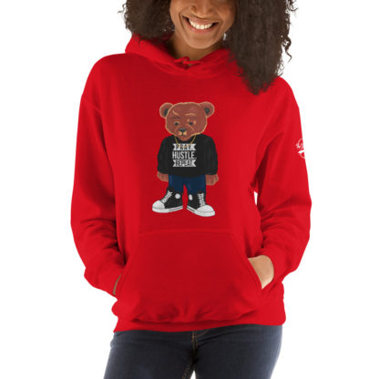 Comizzzle_Pray_Hustle_Repeat_Hoodie_Red_Mockup
