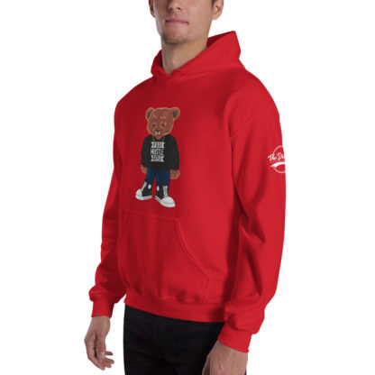 Comizzzle_Pray_Hustle_Repeat_Hoodie_Red_Angle
