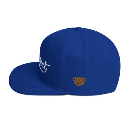 The_District_Clothing_Company_Snapback_Royal_Blue_Side