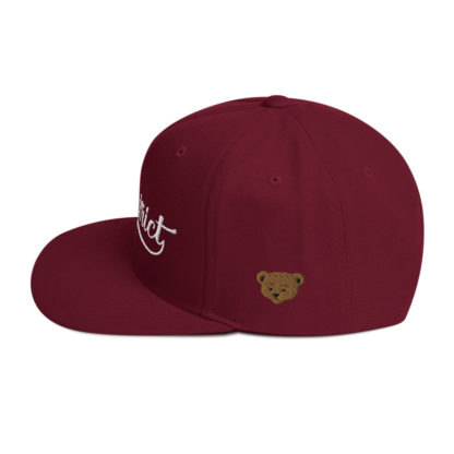 The_District_Clothing_Company_Snapback_Maroon_Side